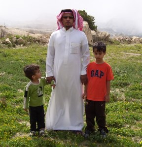 Abdullah and Samir with their father, february 2009