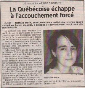 Journal de Québec - 17 novembre 2008